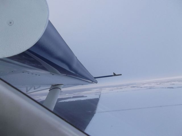 Ice on wing